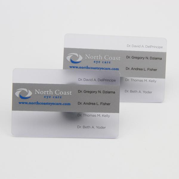 Transparent Plastic Business Cards Custom Clear PVC