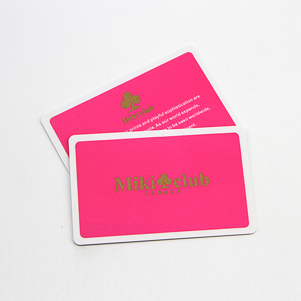 frosted membership cards