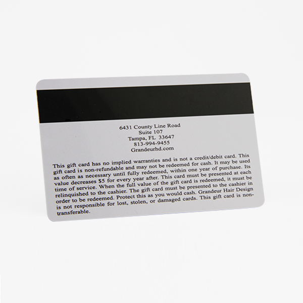 pvc magnetic stripe card - Custom Plastic Cards