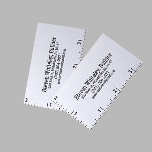 cardstock business cards