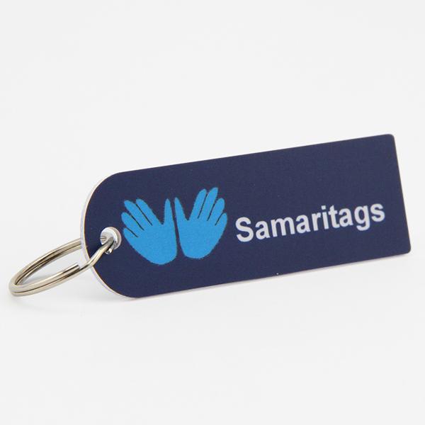 plastic key tag