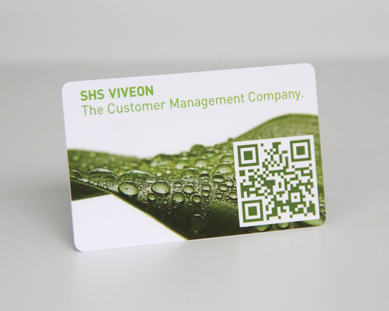 Plastic business QR code card