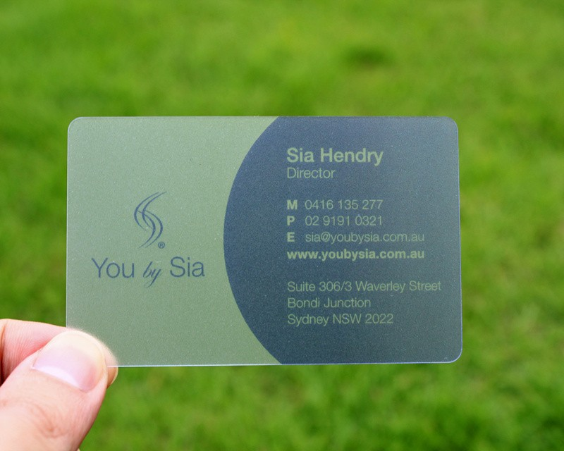 Transparent plastic business cards custom clear pvc business card colourmoves