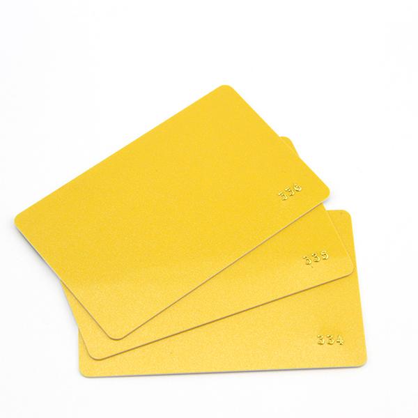 custom embossed cards