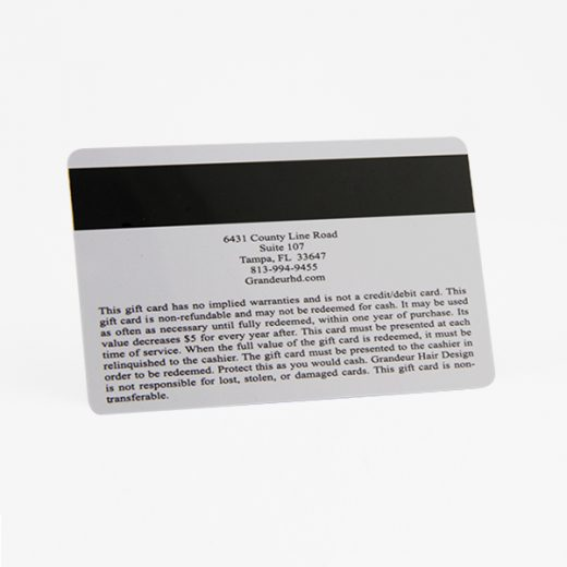 pvc magnetic stripe card