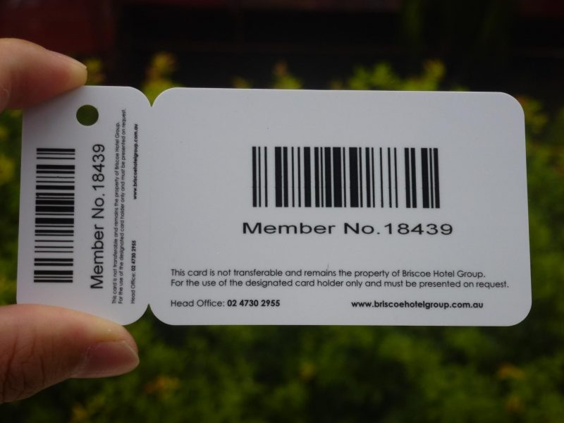 pvc card with qr code cards