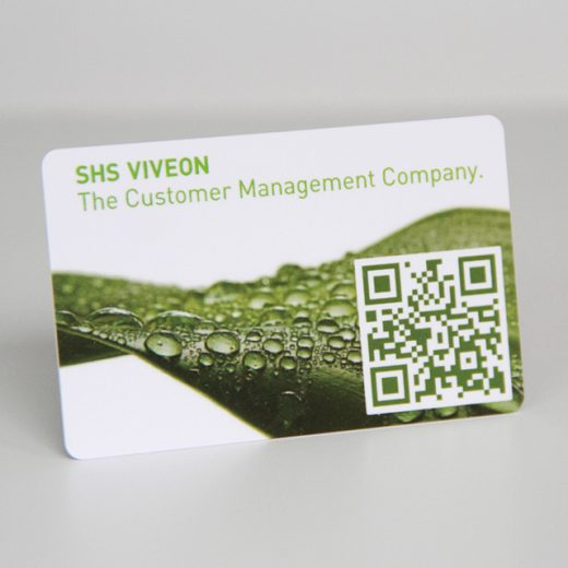 Plastic business QR code card