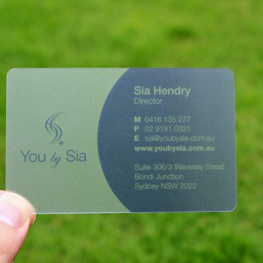transparent plastic business cards