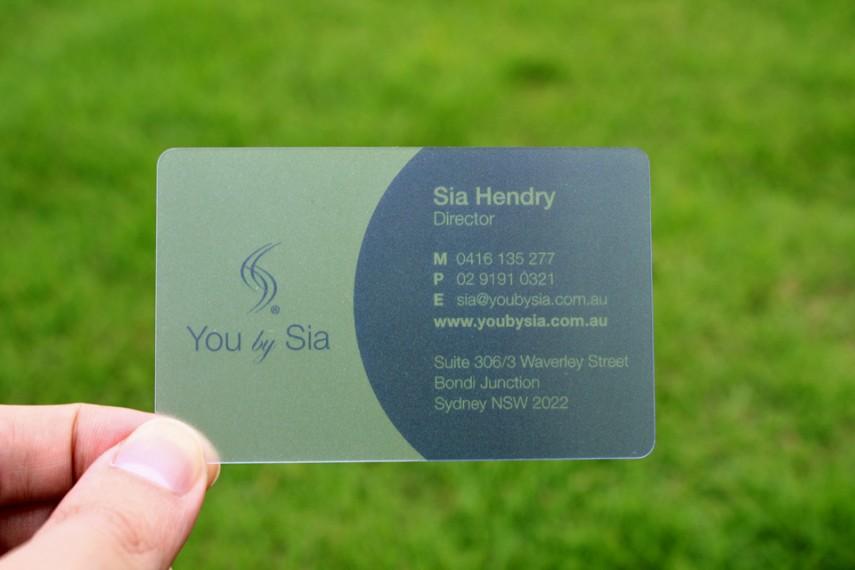 transparent plastic business cards