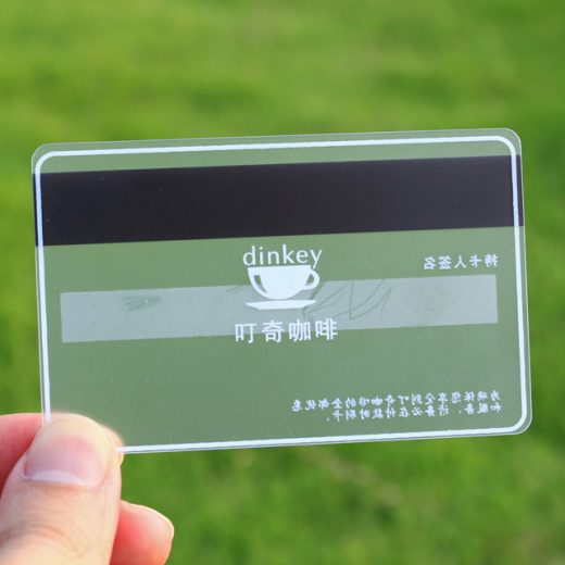transparent plastic cards