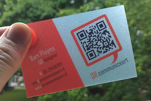 Custom Qr Code Cards Supplier Plastic Business Cards With