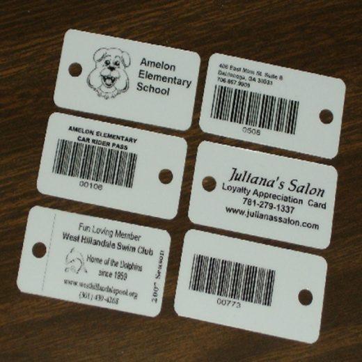 barcode keychain card