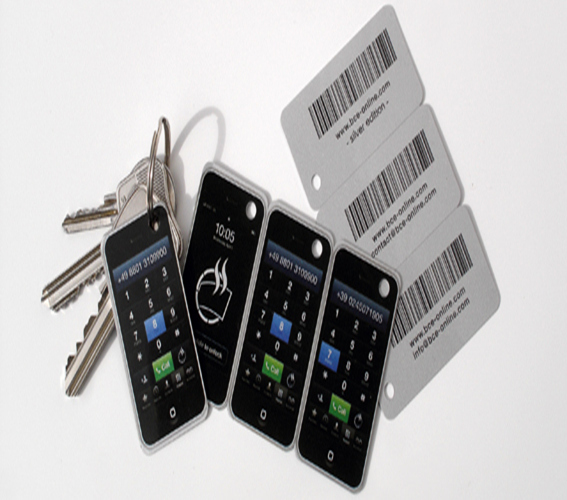 pvc combo barcode key card