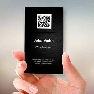 Business-card-QR-code-card