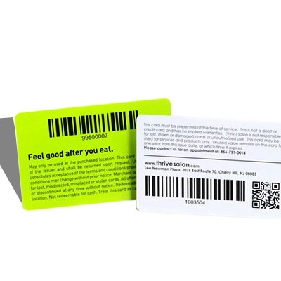 custom gift cards with barcode