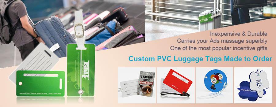 custom plastic pvc luggage tags