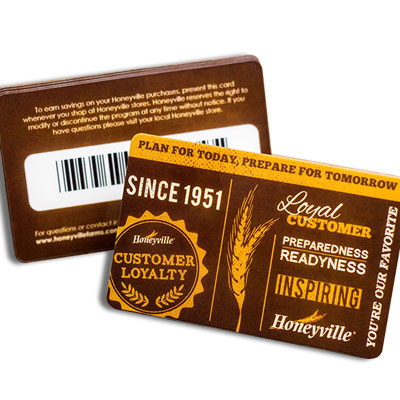 membership cards with barcodes