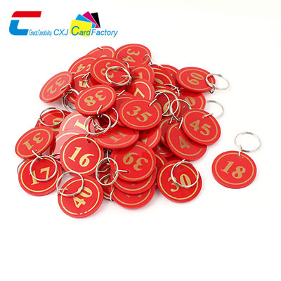 Wholesale Red Plastic Key Tags Small Plastic Key Tags