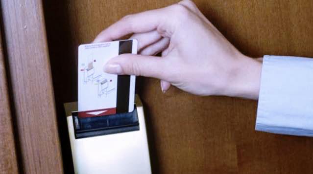 smart room cards instead of mechanical keys