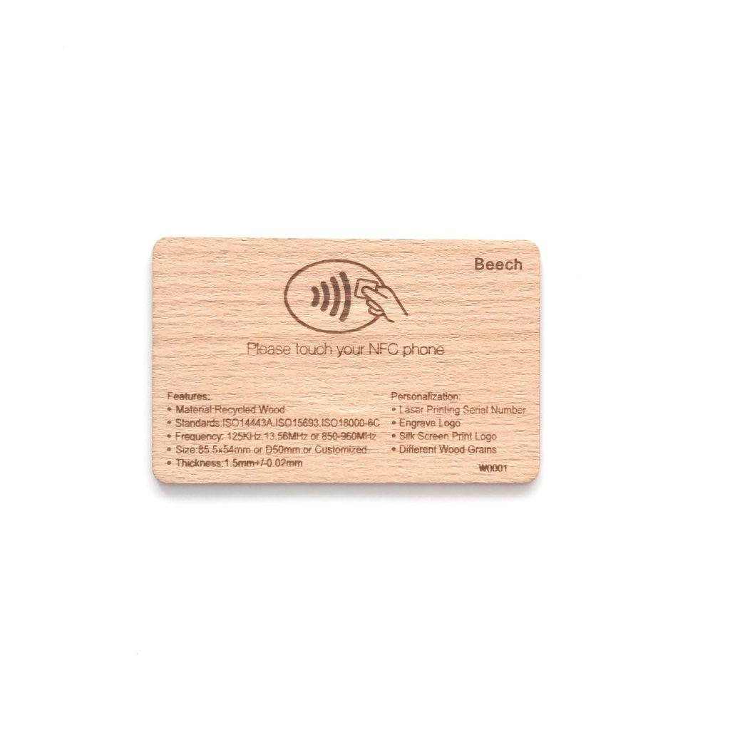 Environmental protection wooden card